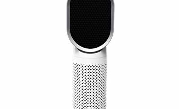 QUEENTY Desktop Air Purifier With True HEPA Filter, Personal Ioniser Air Cleaner, Home Office Compact Negative Ion Air Filtration for Allergies, Dust, Smoke, Pollen Odor and Pet Dander with USB Powered