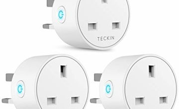 Smart Plug WiFi Outlet TECKIN Mini Plug Works with Amazon Alexa, Google Home and IFTTT, Wireless Smart Socket Remote Control Timer Plug Switch, No Hub Required,13A (3 Pack)