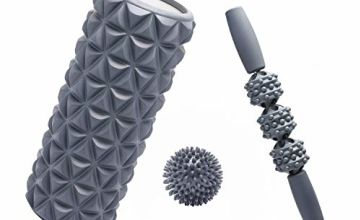 FitBeast Foam Roller Set 2 in 1 for Deep Tissue Muscle Massage, Trigger Point Foam Roller Massage Stick and Massage Ball for Painful Tight Muscles, Deep Relaxation, Therapy Rehabilitation