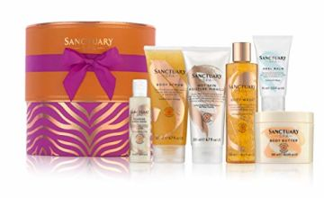 Save on Sanctuary Spa Gift Set, Signature Showstopper Hat Box with Shower Gel, Body Scrub, Body Lotion, Body Butter, Bubble Bath and Foot Cream and more