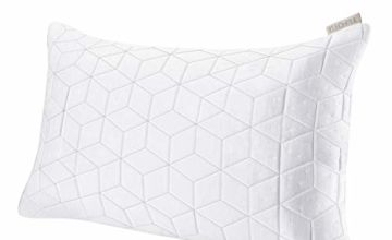 TEFOTO Shredded Memory Foam Adjustable Pillow, Bed Pillows for Sleep Washable Removable Bamboo Cover Queen Size Neck Shoulder Pain Relief