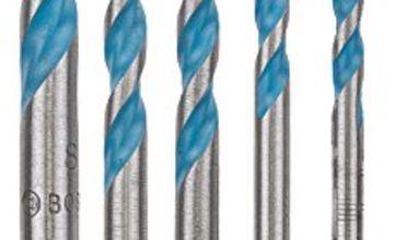 "Bosch Professional 2608589530"" HEX-9 Construction Multi-Purpose Drill Bit Set, Silver/Blue"