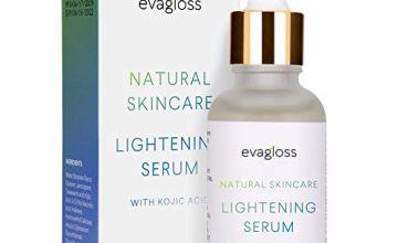 Evagloss Skin Lightening Serum with Kojic Acid - Skin Whitening & Brightening Beauty Care Cream For Body Face Neck Bikini Sensitive Areas & All Skin Types - Dark Spot Corrector by Evagloss