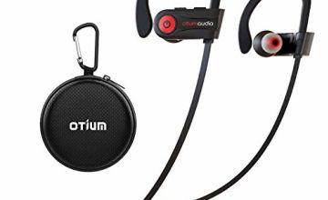 Bluetooth Headphones, Otium Wireless Headphones IPX7 Waterproof Earphones Sport Earbuds With Bluetooth 4.1 CSR Chip 7-9 Hrs Battery,Noise Cancelling Mic Earbuds
