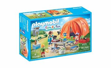 Playmobil 70089 Family Fun Tent with Camping Accessories