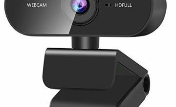 ZasLuke Webcam, 1080P HD USB Webcam, Built-in Dual Noise Canceling Microphone, 30fps Rotatable PC Mac Laptop Desktop Web Camera for Online Teaching Gaming Conferencing Working