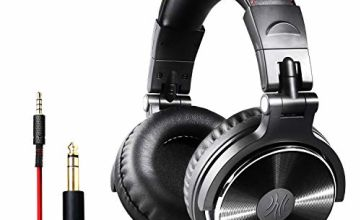 OneOdio Over Ear Headphones Closed Back Studio DJ Headphones for Monitoring Mixing Recording Keyboard Guitar amp, Adapter Free, Newest 50mm Neodymium Drivers, Foldable Headphones Wired (Golden Gray)