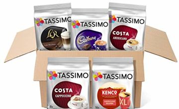 Save 10% on Tassimo Variety Box (Costa, Kenco, L'OR, Cadbury) - Pack of 5 (56 Servings)