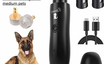 Pecute Dog Nail Grinders 50DB Ultra Quiet,Strong Motor Electric Rechargeable Dog Nail File Pet Nails Trimmer,2 Speeds Fast Grinding for Small Medium Large Dogs Nail