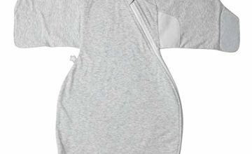 Tommee Tippee The Original Grobag, Newborn Swaddle Wrap, 0-3m, Grey Marl