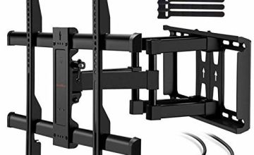 TV Wall Bracket for 37-75 Inch Flat& Curved TVs up to 60kg Max.VESA 600x400mm Dual Arm TV Wall Mount