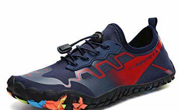 bridawn Water Shoes Men Women Aqua Shoes Quick Dry Swim Shoes Beach Barefoot Shoes for Surf Diving Hiking Climbing