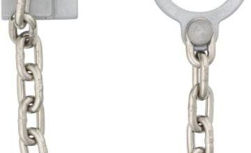 ABUS 215407 Lockable Door Handle Chain Type SK89 Silver