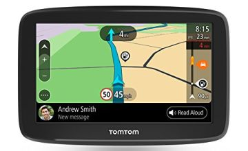 TomTom Car Sat Nav Go Basic, 5 inch, with updates via WiFi, lifetime traffic and maps for 48 countries