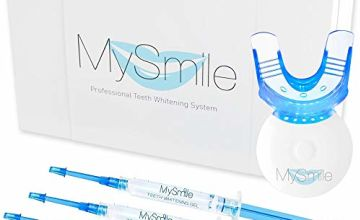 MySmile Home Teeth Whitening Kit, 10 Minute Express Fast Results for Teeth Whitening at Home, Non Sensitive Teeth Whitening Kit with LED Light