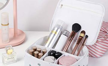 HEITRAL Make up Bag, Travel Cosmetic Bags Portable Toiletry
