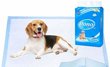 Dono Pet Training Pee Incontinence Pad Puppy House Training Pads Mats for Younger Pets, Adult Pets 60 * 90cm Highly Absorbent & Leakproof