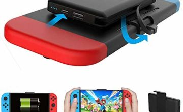 Home Care Wholesale 5000mAh Rechargeable Extended Portable Battery Charger, Compact Travel Backup Power Pack for Nintendo Switch Lite