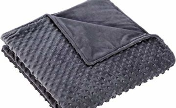 ZZZNEST Weighted Blanket for Adult and Children, Heavy Blanket for Sleep and Stress Relief, Anxiety Blanket, Sensory Calming Blanket for Great Sleep, 100% Cotton Material with Glass Beads, 3.2kg/7.2kg/9.5kg 152x203cm, Grey