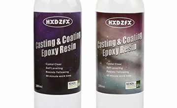 Epoxy Resin 520ml/20oz Kit - 1:1 Ratio Crystal Clear Resin Coating for Wood, Bar, Table, Jewelry Making, Craft Decoration