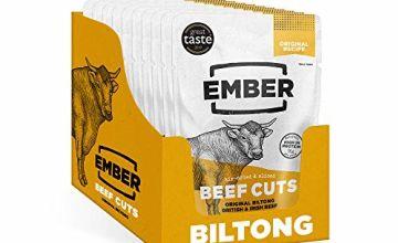 Ember Biltong – Original Beef Jerky – High Protein Snack – (10x30g)