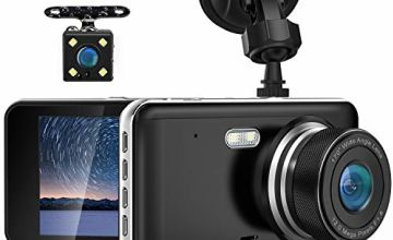 AUTOSOCT Dash Cam Front and Rear Car Camera with 4.0 Inch Screen,1080P FHD Mini DVR Dashboard Camera, Driving Video Recorder with 170°Wide Angle Night Vision Motion Detection and G-sensor