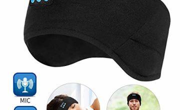 WU-MINGLU Bluetooth Headband, Sleep Headphones Wireless Sport Headband Music Travel Headset for Running, Yoga (BLUE)
