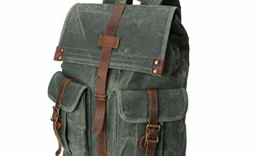 Wind Took Backpack Casual Daypack Canvas Leather Backpacks Vintage Retro Daypack