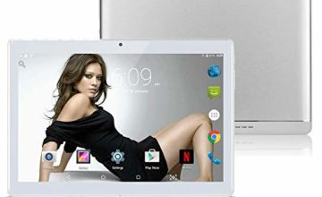 10 Inch 3G Phablet Android 8.1 Octa Core 64GB ROM 4GB RAM Call Phone Tablet PC, Unlocked Dual Sim Card Slots, Bluetooth, GPS, WIFI, Netflix Youtube Resolution 1920 * 1280 display TYD-108-Sliver