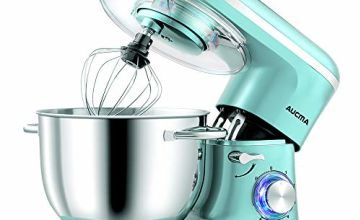 Aucma Stand Mixer,1400W Tilt-Head 6.2L Food Mixer, 6 Speed Kitchen Electric Mixer with Dough Hook, Wire Whip & Beater