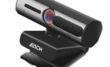 EACH 1080P Full HD Autofocus Webcam, CA601 USB Camera with Webcam Cover, Webcam for Video Calling and Recording for Desktop or Laptop