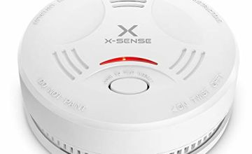 X-Sense Smoke Alarm Detector, 10-Year Battery Fire Alarm Smoke Detector with LED Indicator & Silence Button, Conforms to EN14604 Standard, SD11