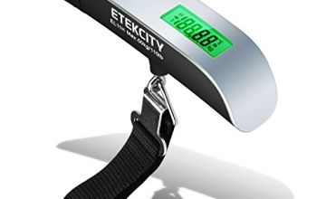 Etekcity Digital Luggage Scales, Travel Scales with Backlight Display for Suitcases and Bags, 50KG, with Auto-Off and Tare Function, Temperature Sensor Included, 2 Year Warranty