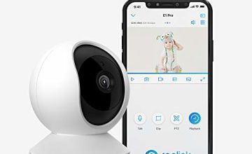 Reolink E1 Pro 4MP Wireless Security Camera Indoor Pan Tilt 2.4GHz 5GHz WiFi Surveillance, with 2 Way Audio Motion Alerts IP Camera for Home Security, Baby, Pet, Nanny Monitoring