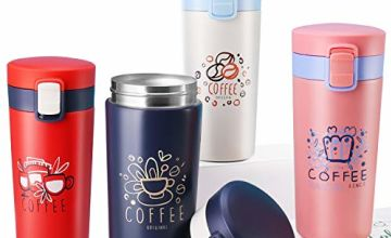 Travel Mug- Mug for Drink, Leakproof and Insulated Cup for Coffee, Tea and Beer, Vacuum Stainless Steel Coffee Travel Mug for Men and Women