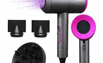TIMLand 4 in 1 Professtional Hair Dryer 2000W with Negative ION Eliminate Static Electricity Ionic Hairdryer for Home Travel 3 Nozzles 3 Speeds,Powerful Constant Temperature