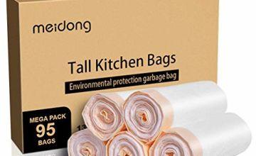 meidong Strong Bin Bags 50l Bin Liners Rubbish Sacks