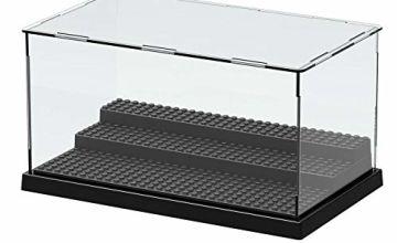 Acrylic Display Case for Minifigures Brick Building Block, Toys Model Display Box,Perspex Dustproof Showcase