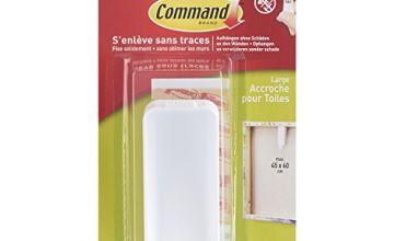 Command uu008297200 APPENDIQUADRI Hook, White, L, Set of 3 Pieces