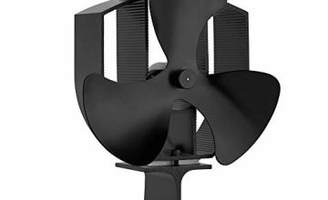 VonHaus 3 Blade Stove Fan – Heat Powered Fan for Wood/Log Burners or Fireplace – Quiet Design – Circulates Warm/Heated Air – Eco-Friendly and Economical – 140-170 CFM