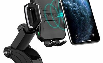 CHOETECH Fast Wireless Car Charger Mount, 7.5W Compatible with Apple iPhone SE/11 Pro Max/XR/XS Max/X/8, 10W for Galaxy S20/Note 10/S10/S9/S8, 5W for Qi-enabled Phone Wireless Car Charger Phone Holder