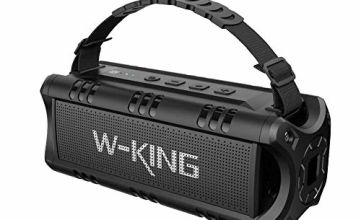 W-KING Bluetooth Speaker, 30W Portable Wireless Speakers Waterproof, 24 Hours Playtime, 5000mAh Battery with Powerful Bass, TWS, NFC, TF Card, USB Playback - Loud Speaker for Home, Party, Outdoor