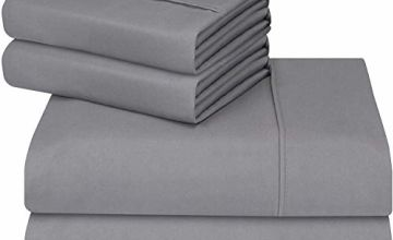 Utopia Bedding 4 Piece Bed Sheet Set - Brushed Microfibre Flat Sheet, Fitted Sheet with Pillowcases