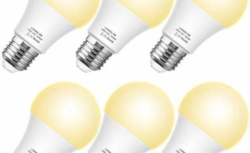 Edison Screw Bulb E27, 820LM, 60W Equivalent, LOHAS 9W Classic Shape, Warm White 3000K, Globe Screw Bulb, Non Dimmable, 6 Pack