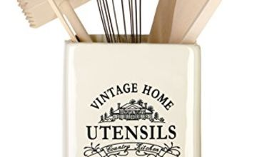 Premier Housewares Vintage Home Utensil Holder - Cream