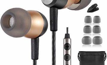 Betron GLD60 Earphones, Noise Isolating In-Ear Headphones, Bass Driven Sound with Volume Control and Microphone, Compatible with iPhone, iPod, iPad and MacBooks