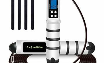 multifun Skipping Rope, Jump Rope Speed Calorie Counter,Adjustable Digital Jump Rope with Alarm Reminder for Fitness, Crossfit, Exercise, Workout,Boxing, MMA, HIIT, Fitness Gym Workouts