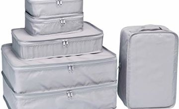 Packing Cubes 6 Set-TZbonjourney-Travel Luggage Packing Organizers with Shoe Bag