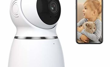 AKASO Indoor Security Camera, 1080P HD IP Camera with Auto Motion Tracking, Panoramic Navigation, 3D Positioning, Pan/Tilt Remote Control, Motion Detect, Two-Way Audio, Card/Cloud Storage - P50