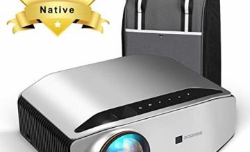 "Native 1080P Projector, GooDee HD Video Projector 6000 Lux 300"" Image Display Compatible with TV Stick, HDMI, VGA, USB, Laptop and Smart Phone for PPT Business Presentation Home Theater Entertainment"